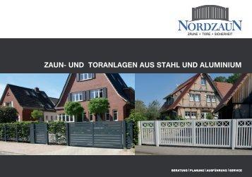 Zaun- und Toranlagen aus Stahl und Aluminium