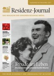 Das Magazin Der senioren resiDenz Brühl - pflege-bruehl.de