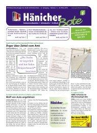 Hänicher Bote - Ausgabe 03 - Jahrgang 2019