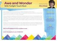 030719 FHT TWILIGHT TEACH MEET AWE & WONDER