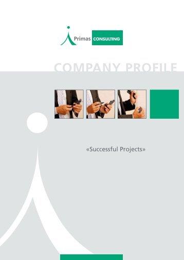 COMPANY PROFILE - Primas CONSULTING GmbH