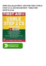 PDF] Download FIRST-AID-FOR-THE-USMLE-STEP-2-CS -SIXTH