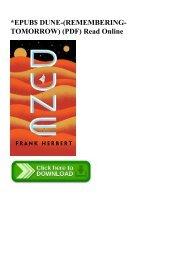 EPUB$ DUNE-(REMEMBERING-TOMORROW) (PDF) Read Online