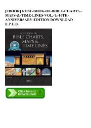 READ [EBOOK] ROSE-BOOK-OF-BIBLE-CHARTS -MAPS-&-TIME-LINES-VOL.-1-10TH-ANNIVERSARY-EDITION DOWNLOAD E