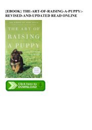 {EBOOK} THE-ART-OF-RAISING-A-PUPPY-REVISED-AND-UPDATED READ ONLINE