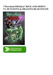 Download EBOoK@ RICK-AND-MORTY-VS.-DUNGEONS-&-DRAGONS READ ONLINE