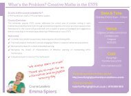 230518 FHT WHAT THE PROBLEM CREATIVE MATHS IN EYFS