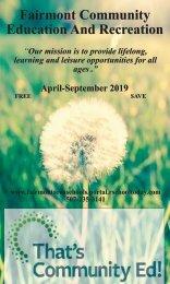 CER Brochure Spring Summer 2019