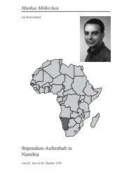 Namibia 10 Jahre nach der Unabhängigkeit - Heinz-Kühn-Stiftung