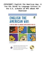 (DISCOUNT) English the American Way: A Fun ESL Guide to Language  Culture in the U.S. w/Audio CD  MP3 eBook PDF Download
