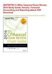 (DEFINITELY) Wiley Cpaexcel Exam Review 2016 Study Guide January: Financial Accounting and Reporting eBook PDF Download