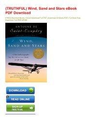 (TRUTHFUL) Wind, Sand and Stars eBook PDF Download