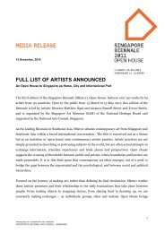 full list of artists announced - National Heritage Board