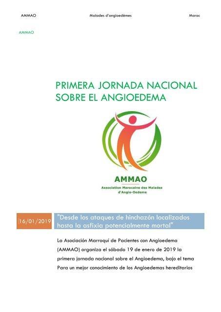 Primera Jornada Nacional sobre el Angiodema - AMMAO News