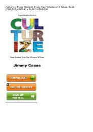 DOWNLOAD in [PDF] Culturize: Every Student. Every Day. Whatever It Takes. by Jimmy Casas Full Books