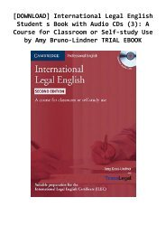 [DOWNLOAD] International Legal English Student s Book with Audio CDs (3): A Course for Classroom or Self-study Use by Amy Bruno-Lindner TRIAL EBOOK