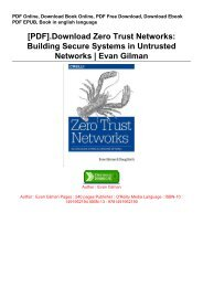 [PDF].Download Zero Trust Networks: Building Secure Systems in Untrusted