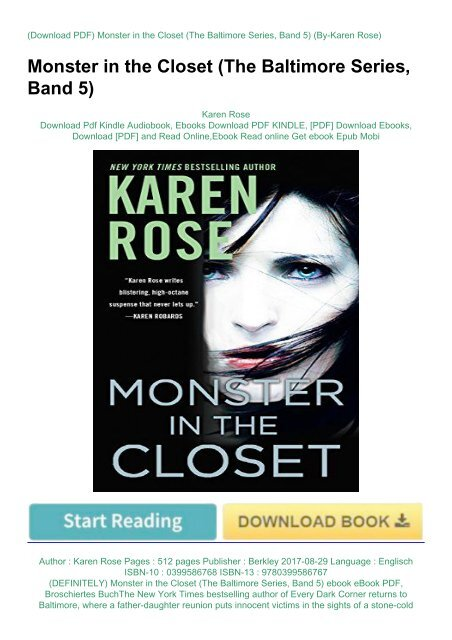 DEFINITELY) Monster in the Closet (The Baltimore Series