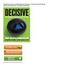 (RECOMMEND) Decisive: How to Make Better Choices in Life and Work eBook PDF Download