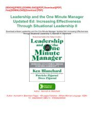 Download.e-Book Leadership and the One Minute Manager Updated Ed: Increasing