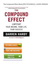 E-book download The Compound Effect by Darren Hardy PDF File