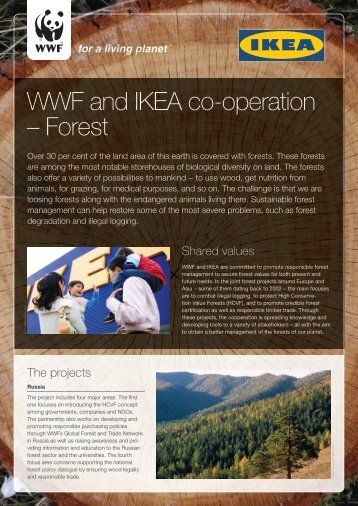 WWF and IKEA co-operation – Forest