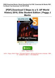 [PDF].Download 5 Steps to a 5: AP World History 2018, Elite Student Edition |