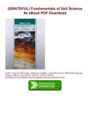 (GRATEFUL) Fundamentals of Soil Science 8e eBook PDF Download