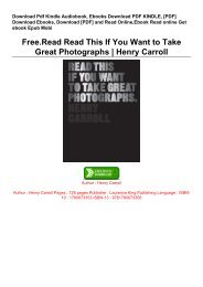 Free.Read Read This If You Want to Take Great Photographs | Henry Carroll