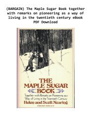 -BARGAIN-The-Maple-Sugar-Book-together-with-remarks-on-pioneering-as-a-way-of-living-in-the-twentieth-century-eBook-PDF-Download