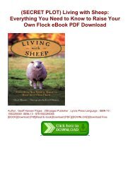 (SECRET PLOT) Living with Sheep: Everything You Need to Know to Raise Your Own Flock eBook PDF Download