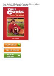 (GRATEFUL) Your Goats: A Kid's Guide to Raising and Showing eBook PDF Download