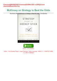 Download.e-Book McKinsey on Strategy to Beat the Odds | Chris Bradley