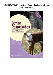 (MEDITATIVE) Bovine Reproduction eBook PDF Download