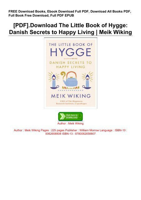 the little book of hygge pdf free