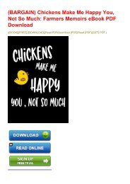 (BARGAIN) Chickens Make Me Happy You, Not So Much: Farmers Memoirs eBook PDF Download