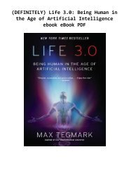 (DEFINITELY) Life 3.0: Being Human in the Age of Artificial Intelligence ebook eBook PDF