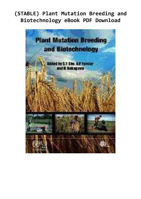 Plant Biotechnology Ebook