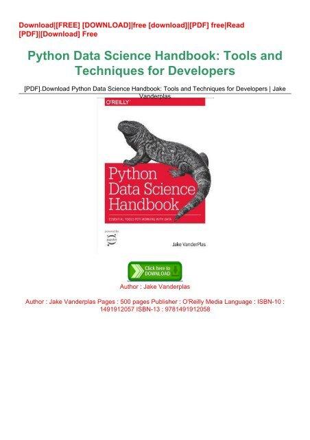 python data science handbook pdf download