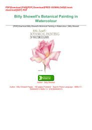 [PDF].Download Billy Showell's Botanical Painting in Watercolour | Billy Showell