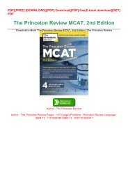 Download.e-Book The Princeton Review MCAT, 2nd Edition | The Princeton Review