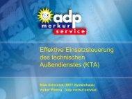 Effektive Einsatzsteuerung des technischen Außendienstes (KTA)