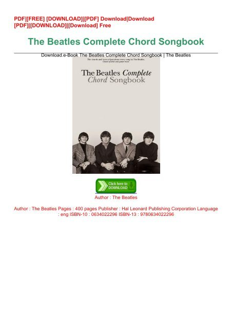 Pdf songbook chord beatles the complete