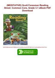 (MEDITATIVE) Scott Foresman Reading Street: Common Core, Grade 3.1 eBook PDF Download