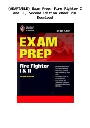 (ADAPTABLE) Exam Prep: Fire Fighter I and II, Second Edition eBook PDF Download