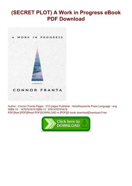 SECRET PLOT) A Work in Progress eBook PDF Download