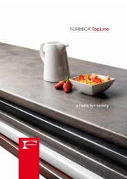a taste for variety - Formica Group