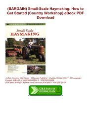 (BARGAIN) Small-Scale Haymaking: How to Get Started (Country Workshop) eBook PDF Download