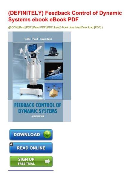 feedback control of dynamic systems franklin pdf free download