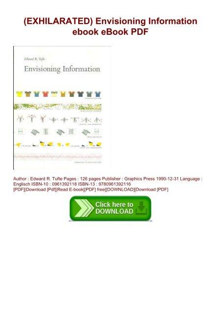 EXHILARATED) Envisioning Information ebook eBook PDF